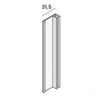 Basis eindprofiel 2807 Aluminium