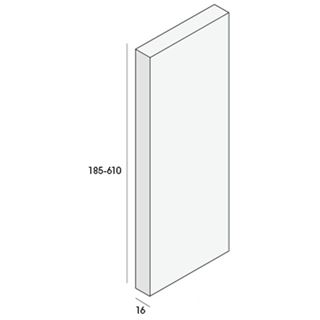 Unipanel bouwpaneel 185x16mm, 290cm