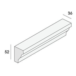 Unipanel sierlijst 36x52mm, 485cm